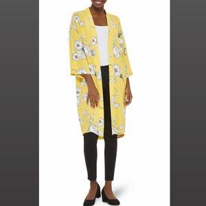 Floral Yellow Kimono